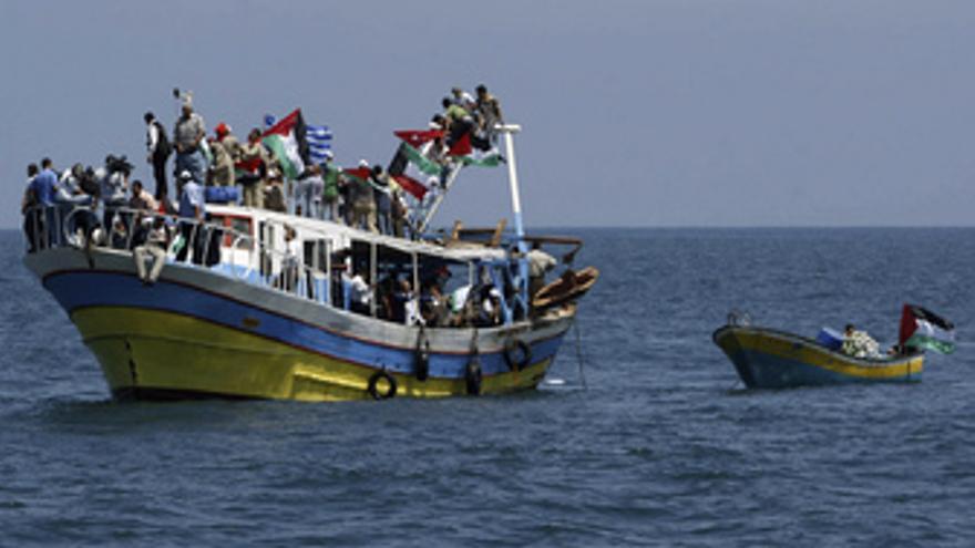 Flotilla de ayuda humanitaria para Gaza. (EUROPA PRESS)