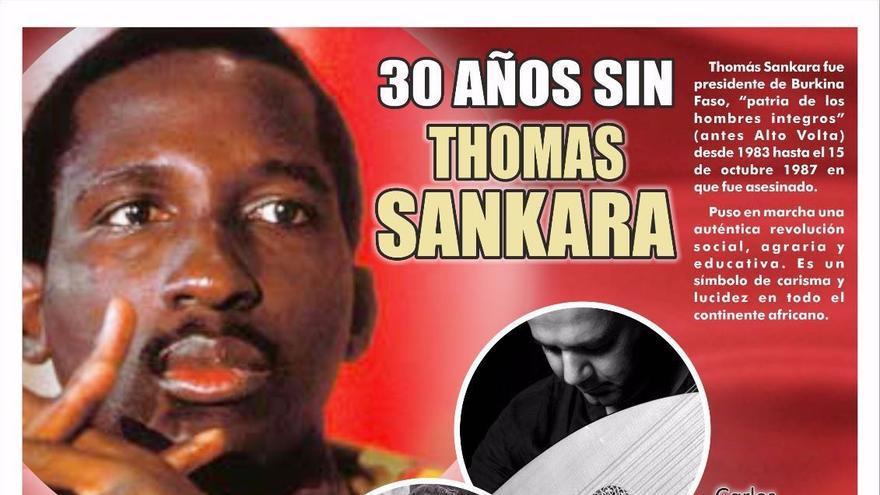 Cartel homenaje a Sankara.