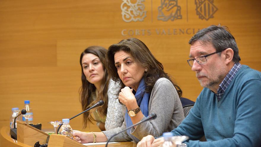 La exconsellera de Bienestar Social, Angélica Such, durante su comparecencia en las Corts