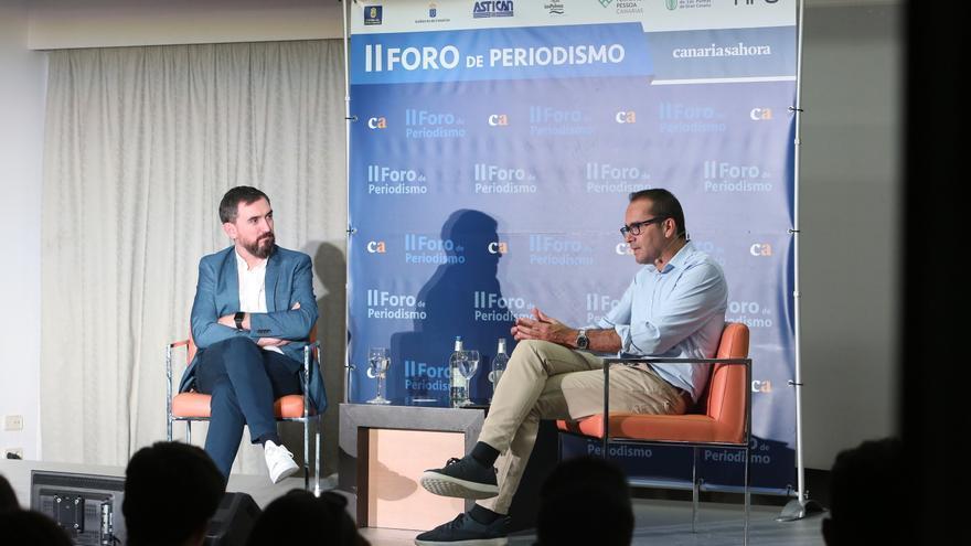 Igancio Escolar y David Jiménez, en el II Foro de Periodismo de Canarias Ahora