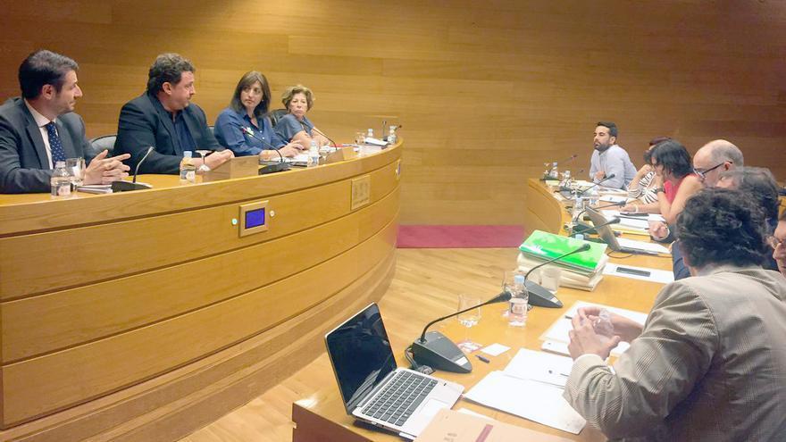 El exconcejal del PP de Majadahonda José Luis Peñas en la comisión de Feria Valencia en las Corts