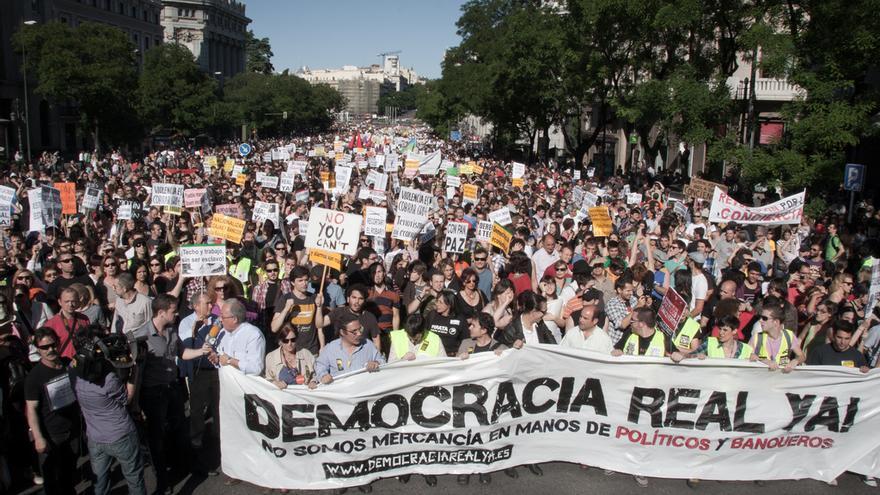 Cabecera de la manifestación del 15 de mayo de 2011 / Juan Luis Sánchez