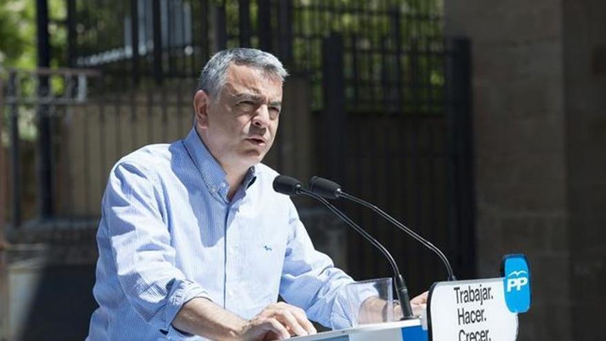 Javier de Andrés, en un acto electoral.