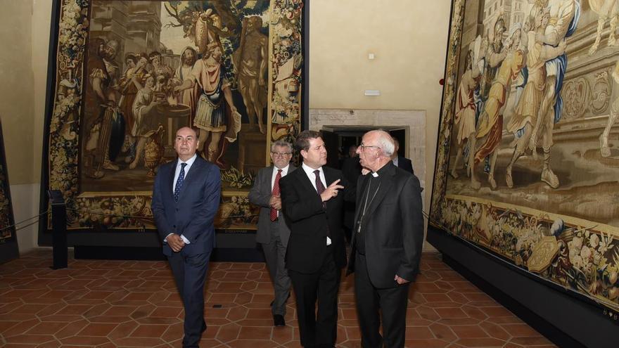 Inauguración de la exposición de tapices flamencos en la catedral de Sigüenza