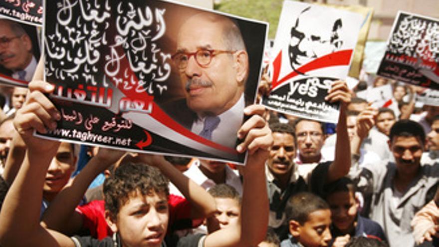 Partidarios egipcios de ElBaradei