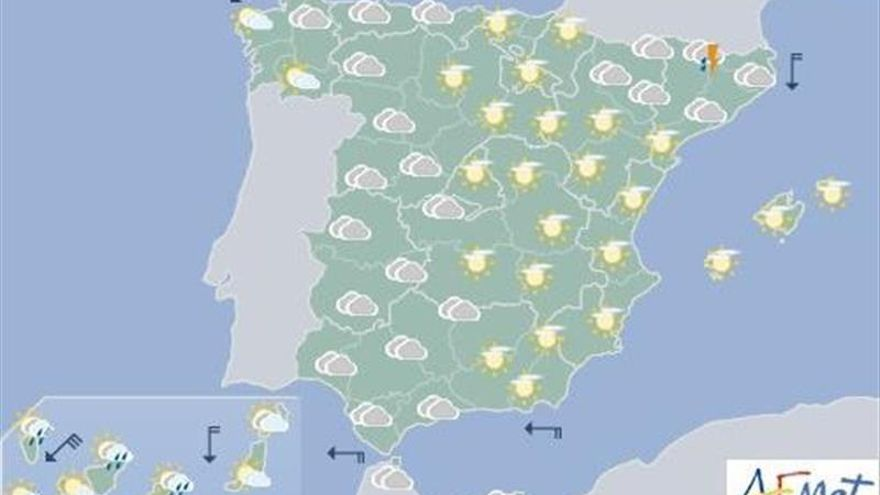 Hoy, viento fuerte en Canarias y temperaturas en ascenso en el noreste