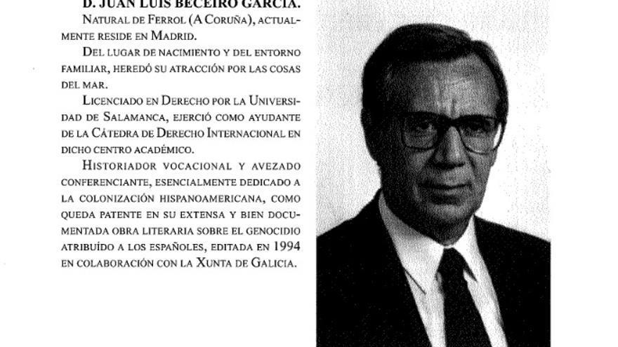 """Edición del libro 'La mentira histórica desvelada' de Juan Luis Beceiro """"editada en colaboración con la Xunta"""""""
