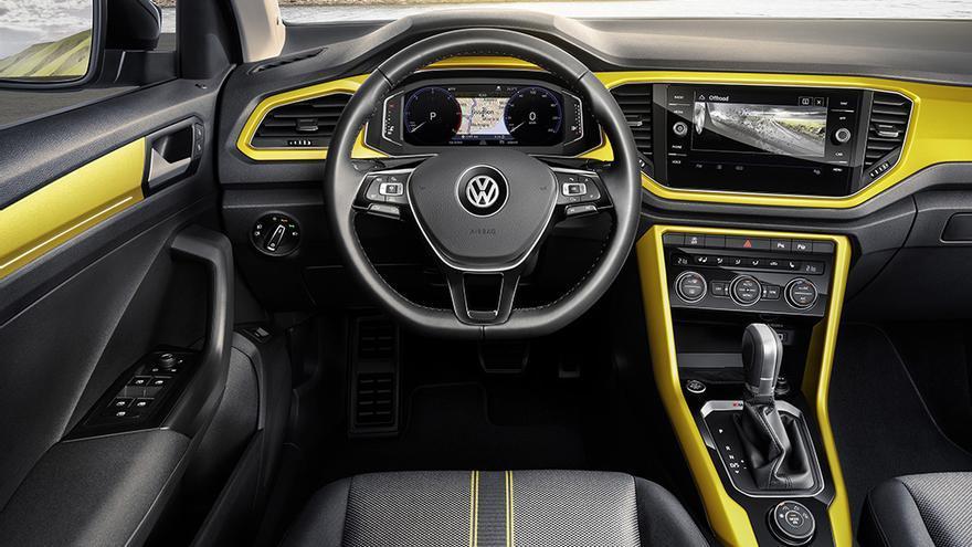 Si se desea, los colores vivos como este amarillo pueden decorar el habitáculo del T-Roc.
