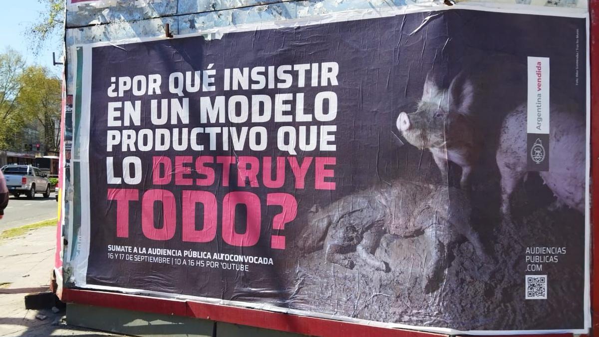 Campaña en la calle para convocar a la audiencia sobre granjas porcinas