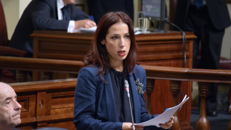 La exvicepresidenta del Gobierno de Canarias Patricia Hernández en el Parlamento de Canarias (Flickr Parcan)