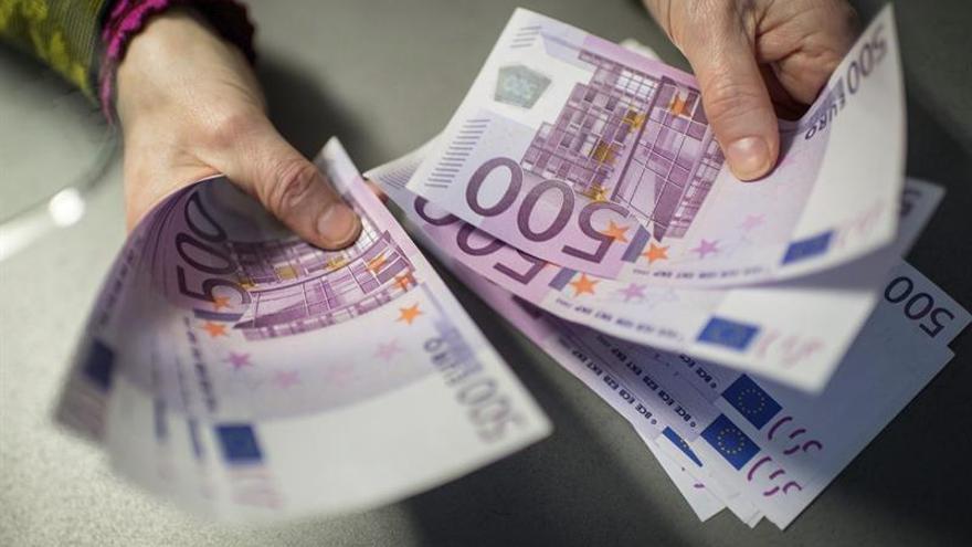 El número de billetes de 500 euros cae a niveles de diciembre de 2003