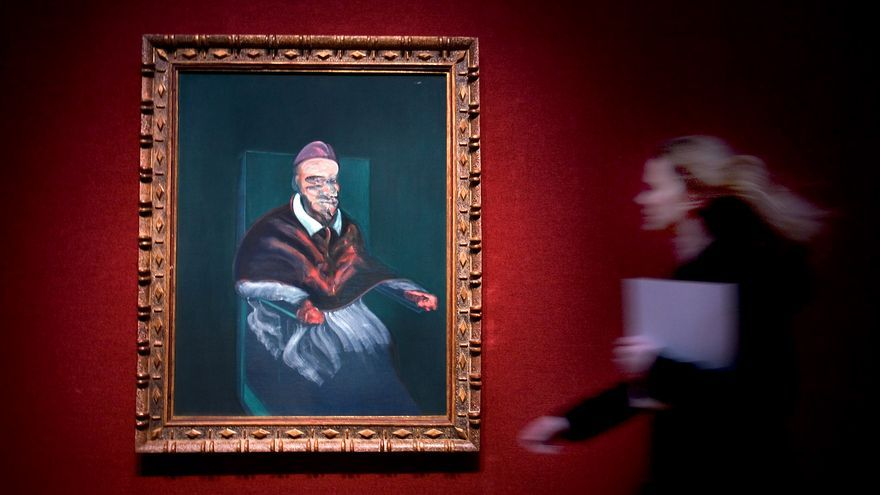 'Study from Portrait of Pope Inocent X by Velázquez' en la casa Christie's en Londres. / AP Photo. Sang Tan.