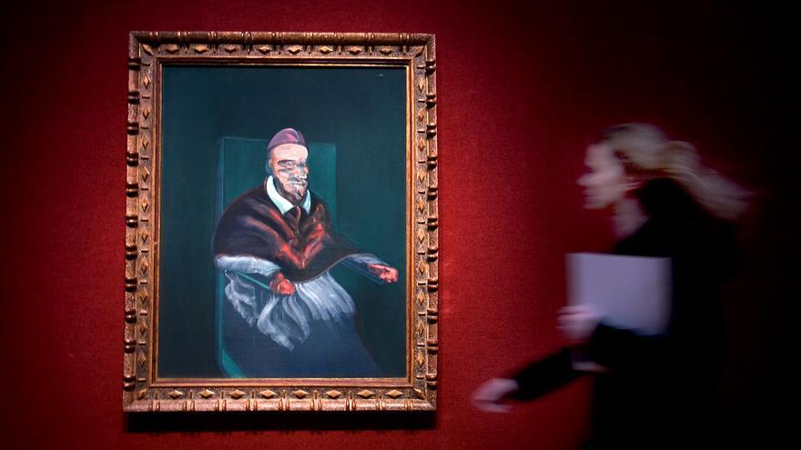 'Study from Portrait of Pope Inocent X by Velázquez' en la casa Christie's en Londres. / AP Photo. Sang Tan.