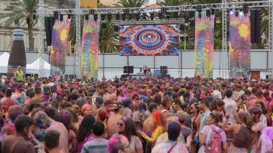 Imagen de la segunda edición del 'Holi Festival' de Santa Cruz de La Palma celebrado el pasado sábado, 5 de agosto.