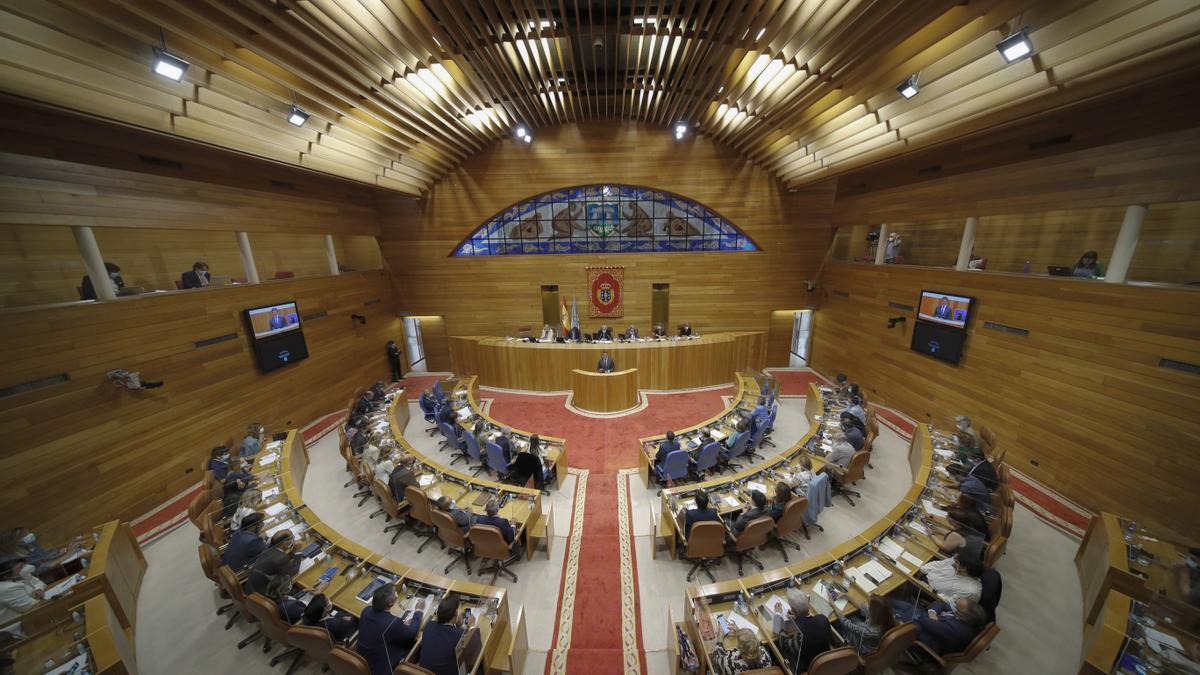 Imagen del en el pleno de investidura de la XI Legislatura de la Xunta de Galicia.