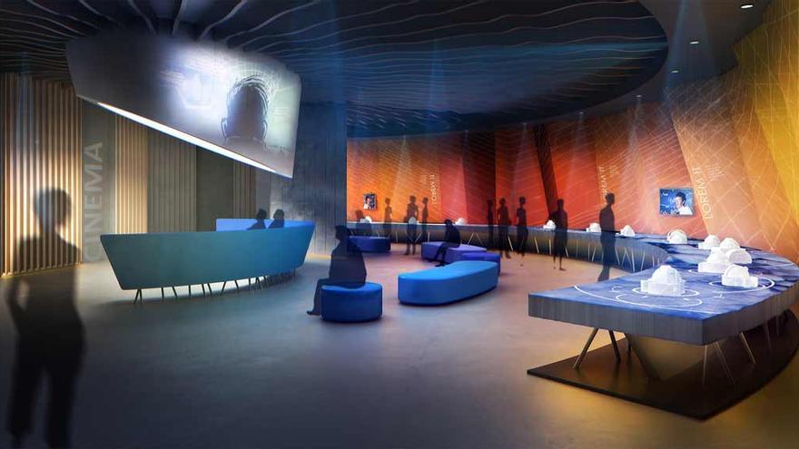 Recreación del interior del Centro de Visitantes del Roque de Los Muchachos.