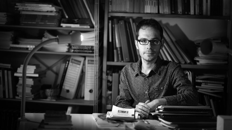 Gonçal López-Pampló, director literari d'Edicions Bromera.