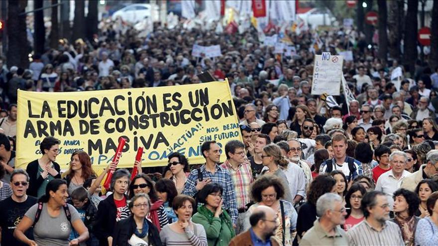 Quedan libres los 3 menores detenidos en Valencia en la protesta estudiantil
