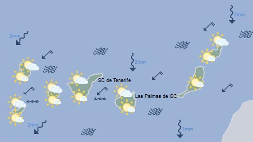 Mapa del tiempo para mañana, lunes 12 de septiembre