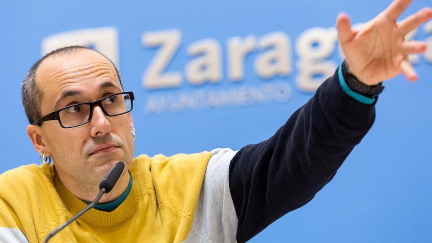 El concejal de Servicios Públicos del Ayuntamiento de Zaragoza, Alberto Cubero