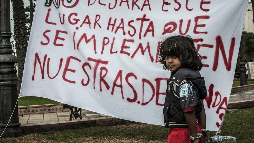 Los sirios en Melilla y Ceuta se sienten presos/ Fotografía: J. Blasco de Avellaneda