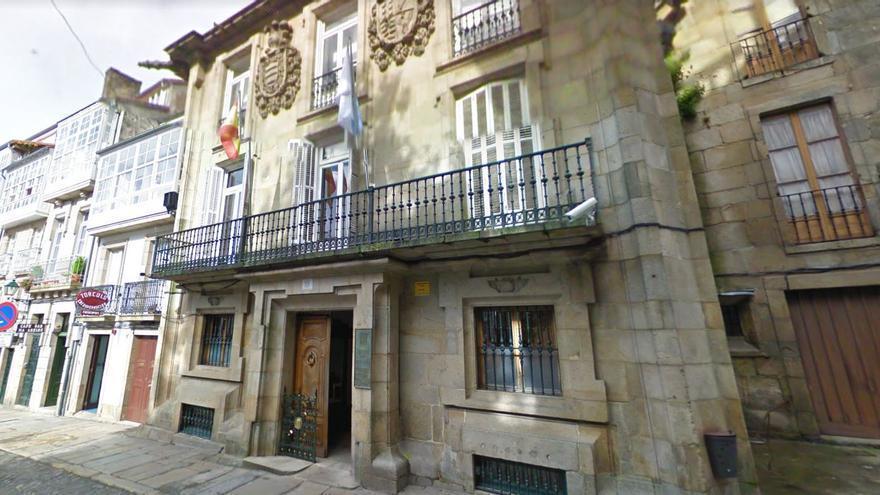 Una de las sedes de la Xunta en el casco histórico de Santiago de Compostela, señalada por la posible concentración de radón