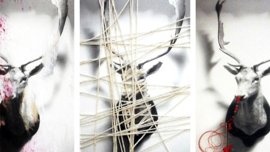 Cartel de la exposición colectiva animalista 'El Venadito