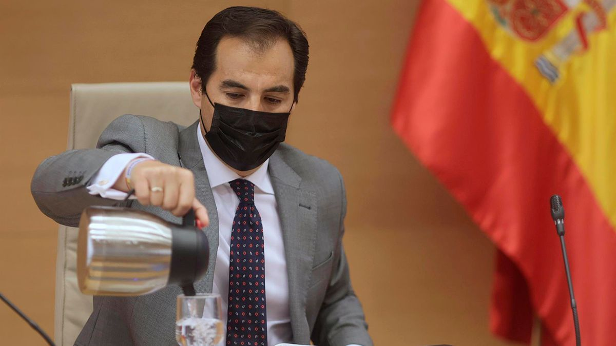 José Antonio Nieto, en su comparecencia en la comisión de la operación Kitchen en el Congreso.