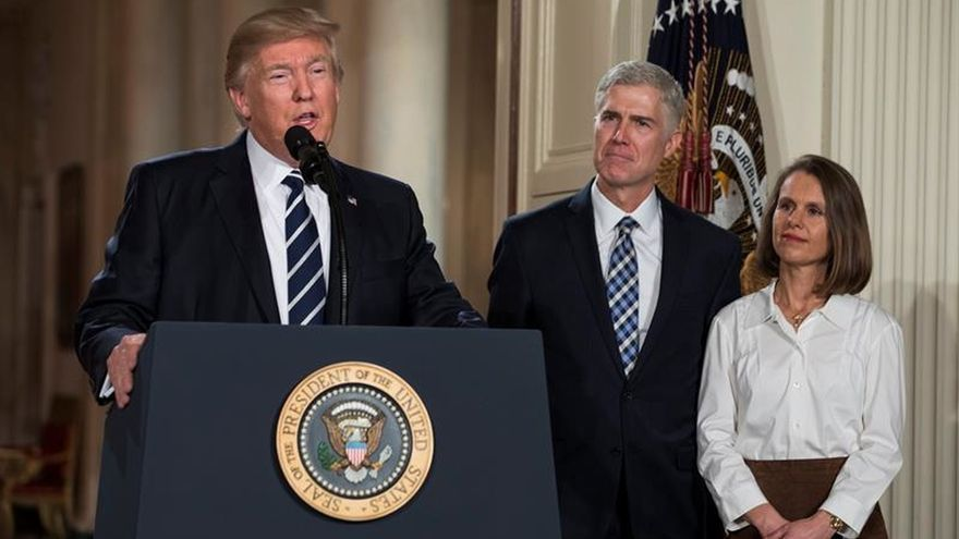 Trump elige al juez Neil Gorsuch como candidato para el Tribunal Supremo