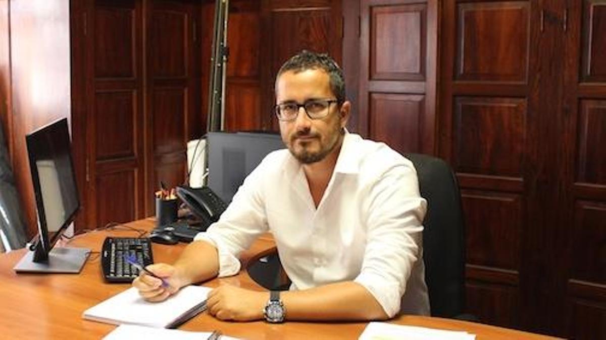 Bernardo López,  concejal de Urbanismo de Santa Cruz de La Palma.