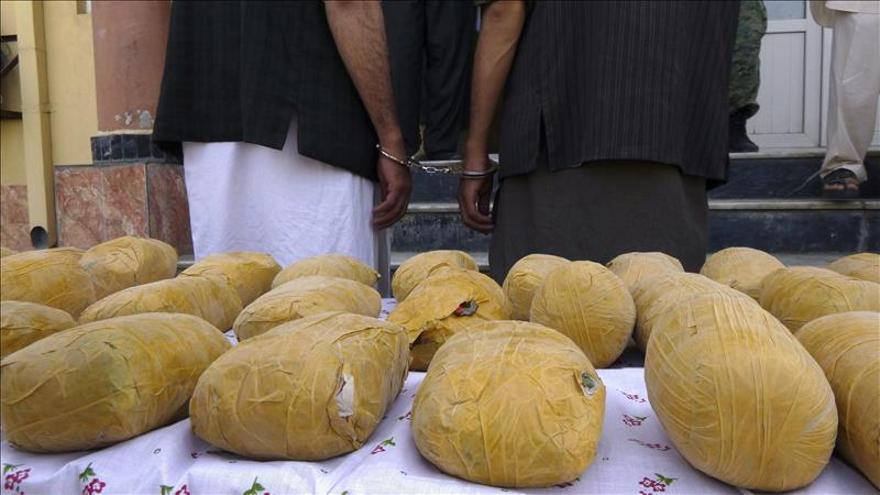 Bolsas de opio en Afganistán