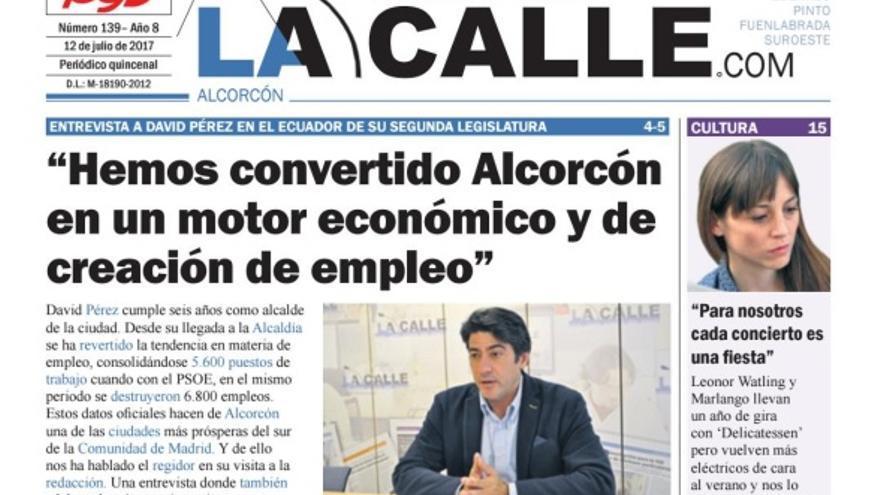 Portada del número del 12 de julio de 2017 de Al cabo de la calle Alcorcón.