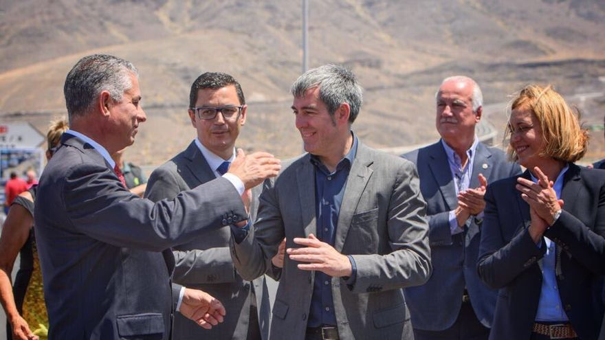 Inauguración de la carretera de La Aldea