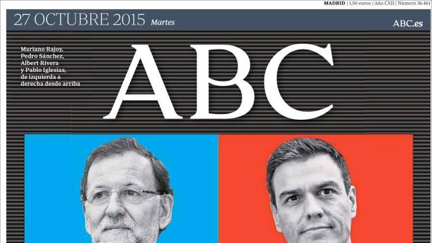 Portada ABC 27/10/2015