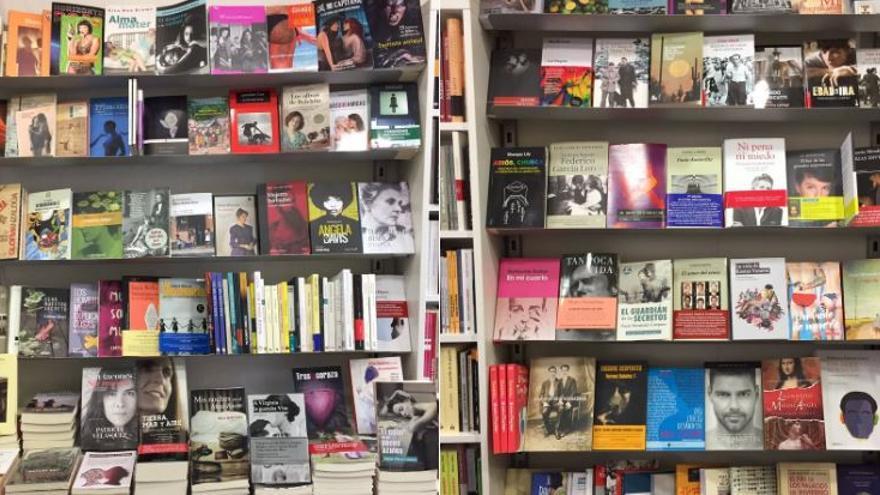 Estanterías de la librería Berkana / Foto: Berkana