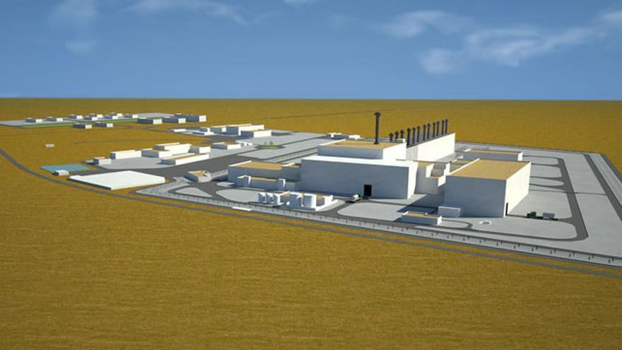 Infografía del futuro ATC de Villar de Cañas IMAGEN: ENRESA