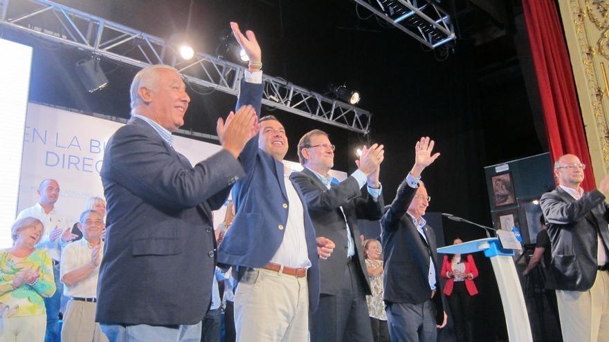 Rajoy viaja mañana a Andalucía por tercera vez en menos de un mes para arropar al candidato del PP-A
