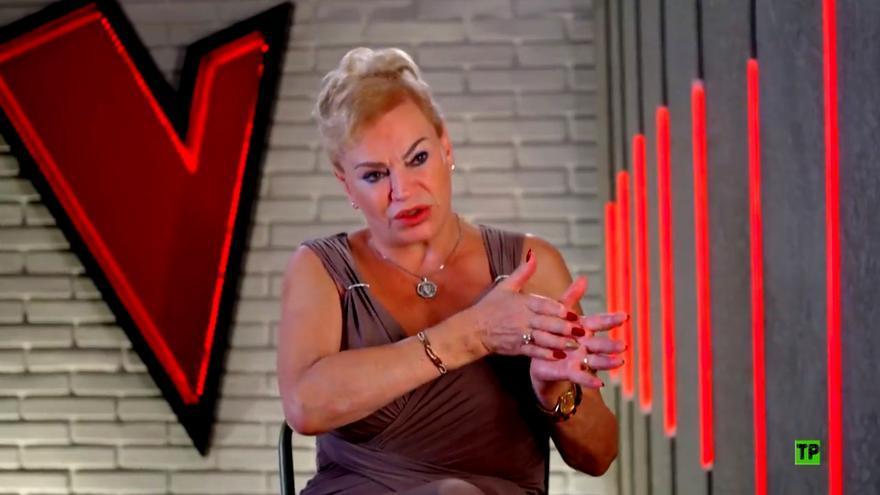 María Coral, en la promoción de 'La Voz Senior'