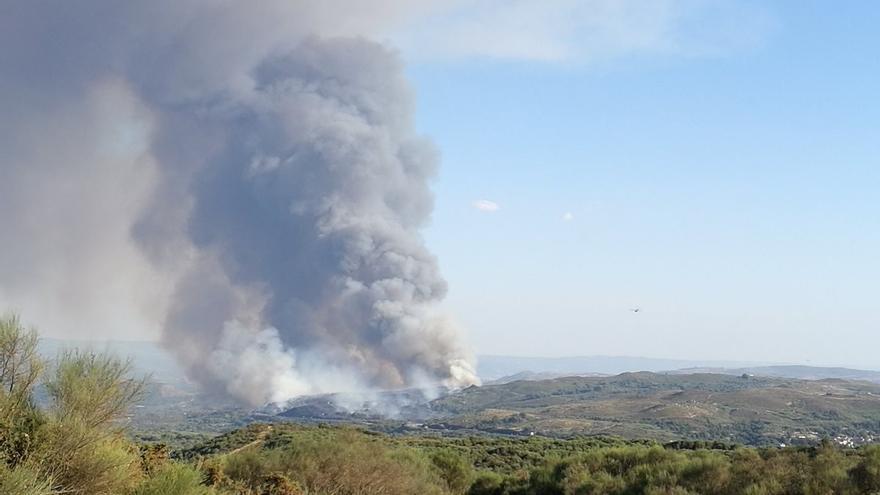 Inicio del incendio de Monterrei