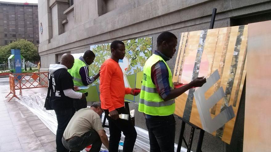 Bilbao une arte y solidaridad con los refugiados sirios