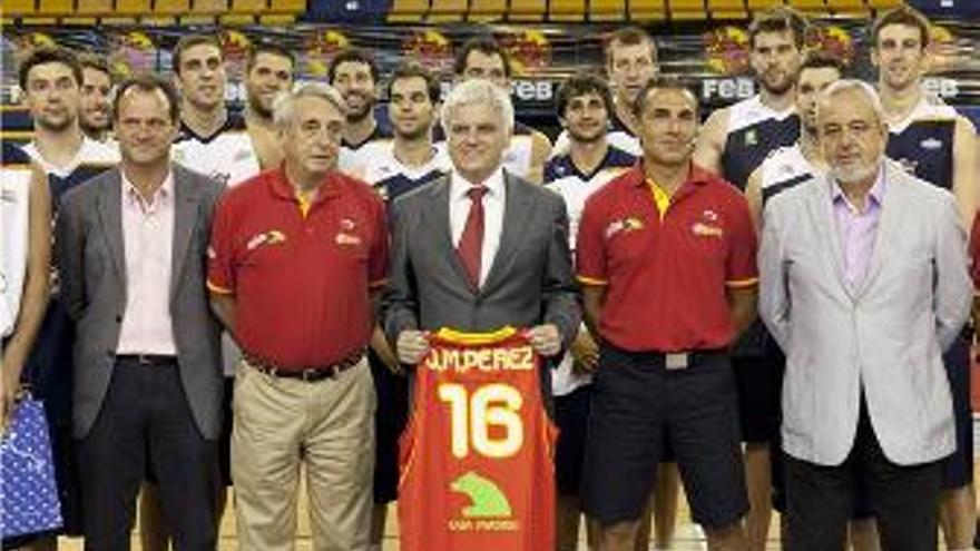 Bienvenida de José Miguel Pérez a la selección española de baloncesto (CANARIAS AHORA)