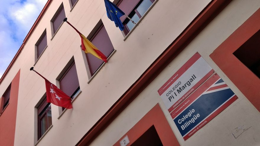 Fachada del colegio público Pi i Margall, uno de los centros afectados   SOMOS MALASAÑA