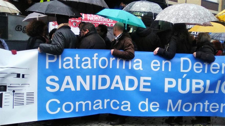 Movilización contra los recortes en la sanidad pública de la comarca de Monterrei, en Ourense