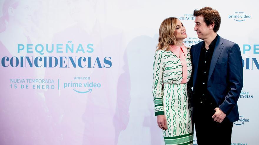 Marta Hazas y Javier Veiga en la presentación de 'Pequeñas coincidencias'