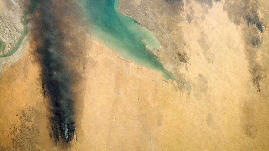 Incendios petroleros, Kuwait © NASA