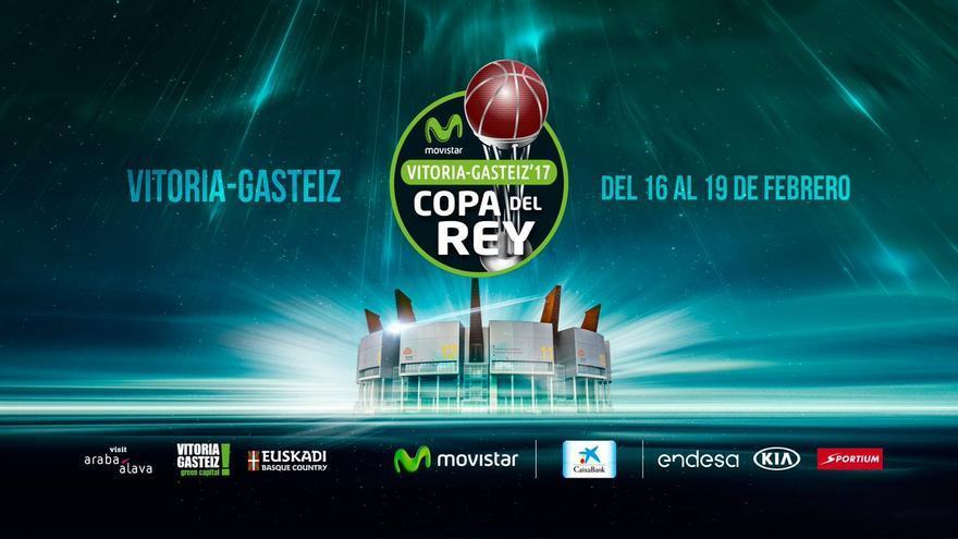 Cartel oficial de la Copa del Rey que se celebrará en Vitoria del 16 al 19 de febrero.