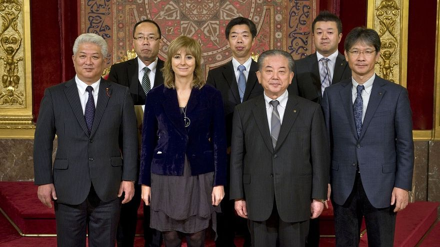 Ollo recibe en el Palacio de Navarra a una delegación de la ciudad japonesa de Yamaguchi