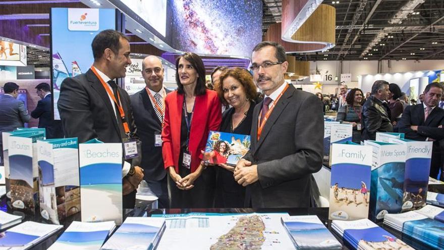 Inauguración del pabellón de Canarias en la World Travel Market