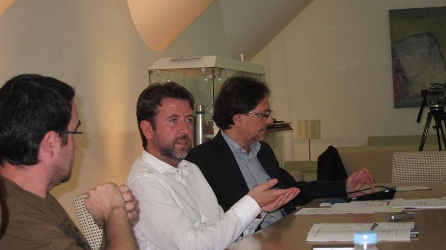 Carlos Alonso junto a Cristóbal de la Rosa.