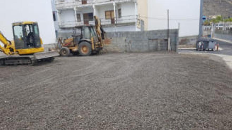Aparcamientos de tierra de Puerto Naos.